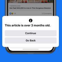Facebook notificará si el contenido a compartir tiene más de 90 días