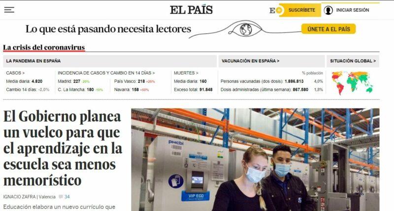El Pais Modelo por Suscripcion 100 mil usuarios periodismo